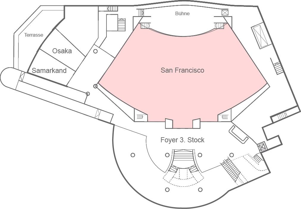 Congress Center Basel Raum San Francisco
