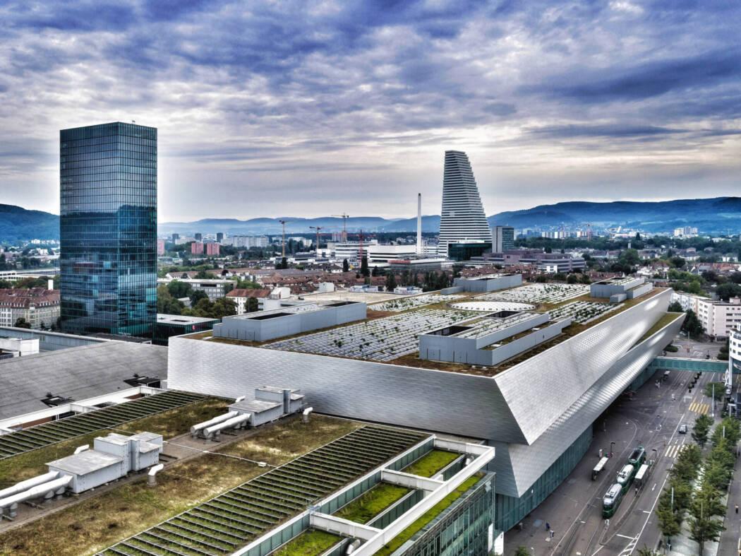 Messe Basel Luftaufnahme
