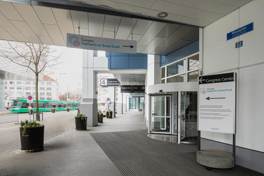 Messe Basel Impfzentrum Basel-Stadt